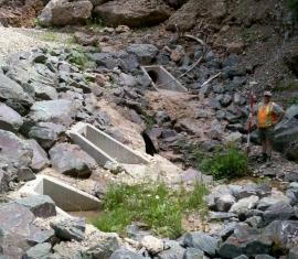 Étude de drainage d'une partie de la route des Failles de Percé