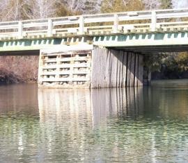 Relevé bathymétrique du pont de la rivière Petit-Pabos