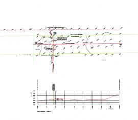 Plan profil d'une future ligne électrique sous-terraine sous une ligne de haute-tension